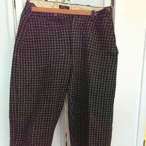 LL Bean vintage wool hunting suspender pants